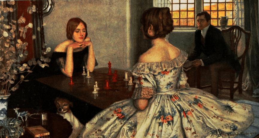 Mujer y ajedrez Leonard Campbell Taylor