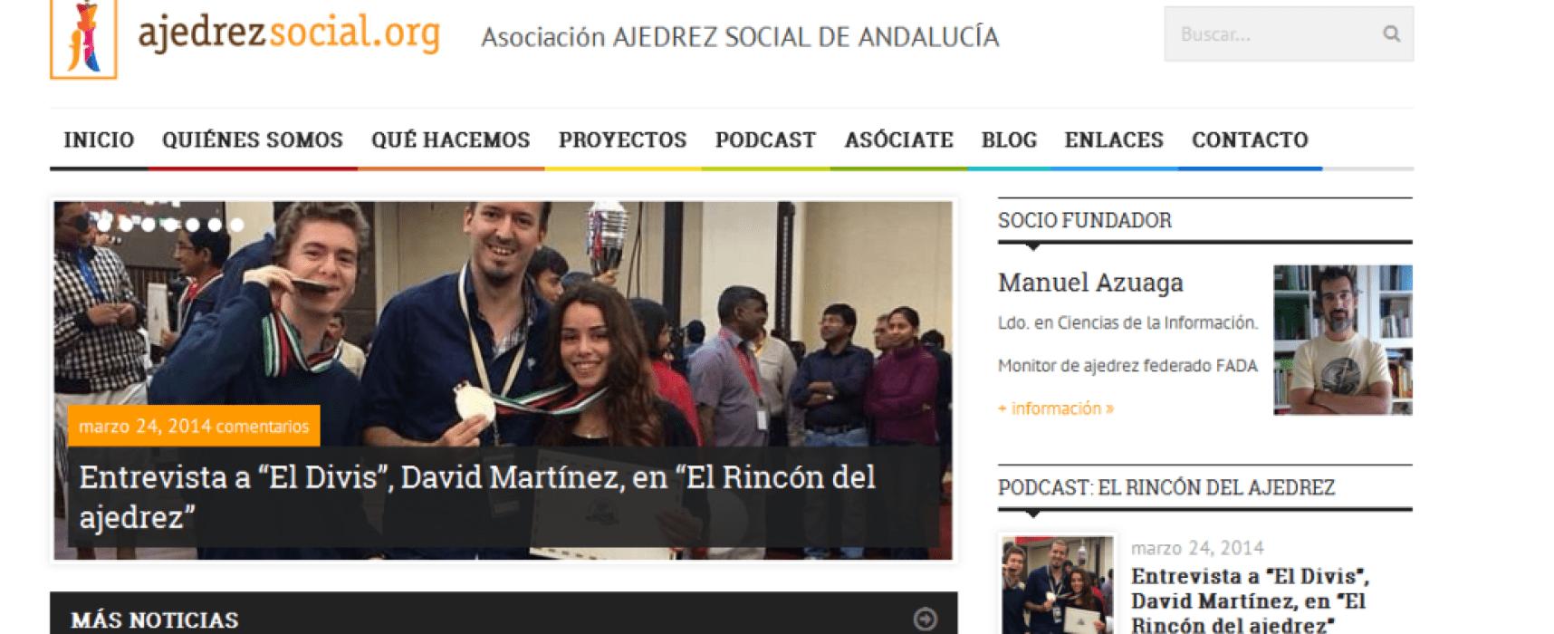 Magnífica acogida de www.ajedrezsocial.org en redes sociales y nº de visitas (más de 900 consultas)
