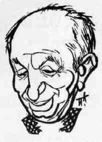 Caricatura del genial jugador argentino