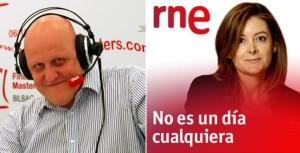 """Programa """"En Jaque"""" de RNE, con el gran Leontxo Gª y Pepa Fdez."""
