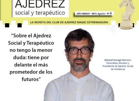 """Somos portada en la revista """"Ajedrez social y terapéutico"""""""