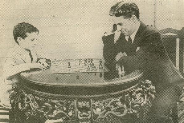 Reshevsky jugando con Chaplin