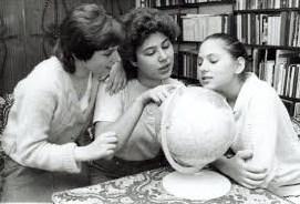 Sofía, Susan y Judit Polgár, las tres hermanas juntas