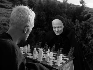 Fotograma de El séptimo sello, de Ingmar Bergman