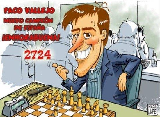 """""""El Rincón del Ajedrez"""" felicitará al nuevo campeón de España Paco Vallejo"""