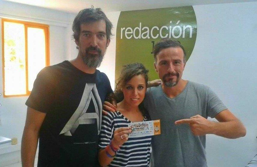 El maestro Azuaga, Rocío del Pozo y Roberto López apoyando la 8ª Caminata Solidaria contra el cáncer