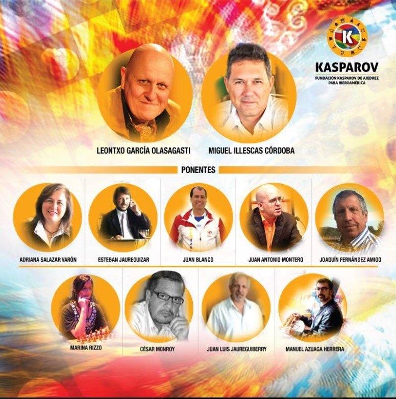 Cartel promocional con algunos de los ponentes