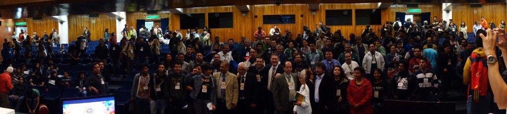La sala de la UNAM una vez concluida la jornada