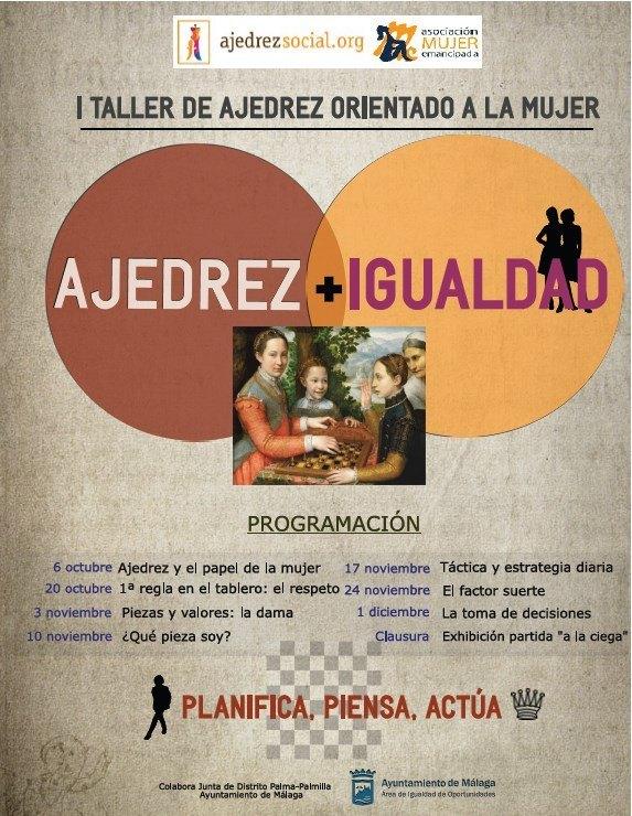 "Cartel programa ""Ajedrez e igualdad"""