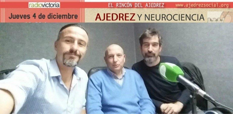 Roberto López (izq.), Rguez. de Fonseca y el maestro Azuaga