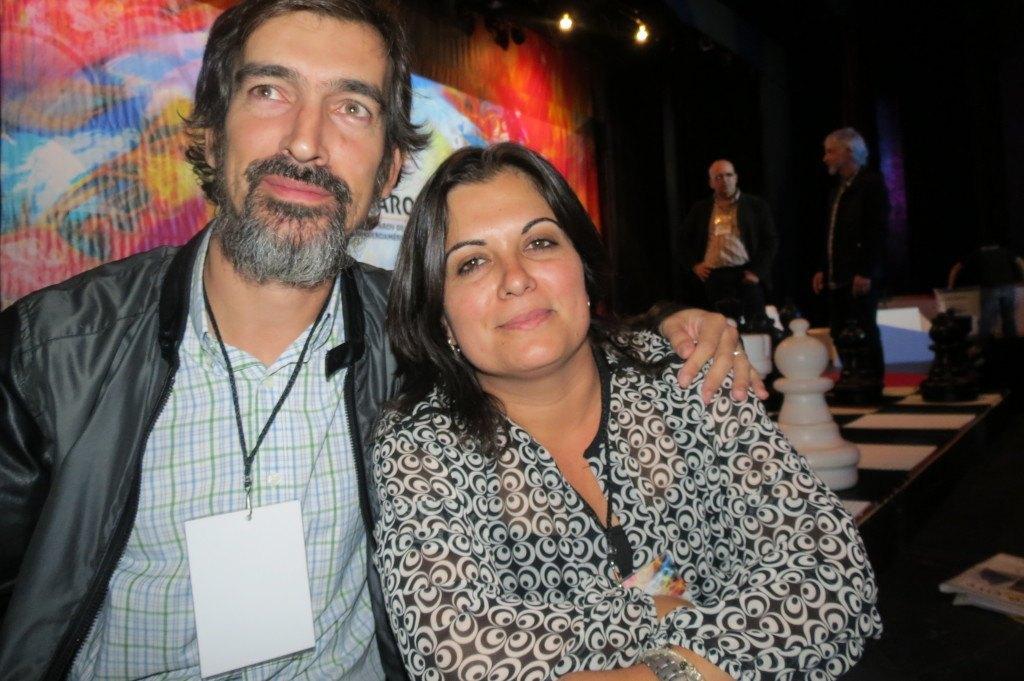 Manuel Azuaga junto a Lorena García en México DF (invitados por la Fundación Kasparov para Iberoamérica)