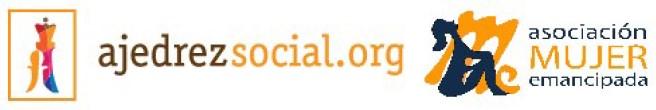 Logo ajedrez social + Mujer emancipada