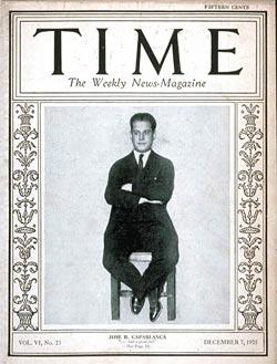 Capablanca fue portada de la revista Time