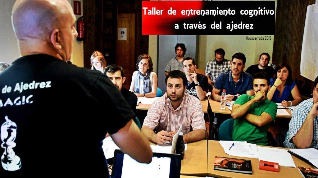 Montero durante un taller práctico en Navacerrada