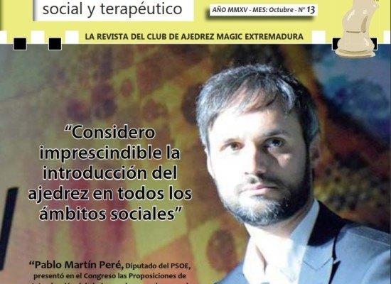 """Nº 13 de la revista """"Ajedrez social y terapéutico"""" (PDF)"""