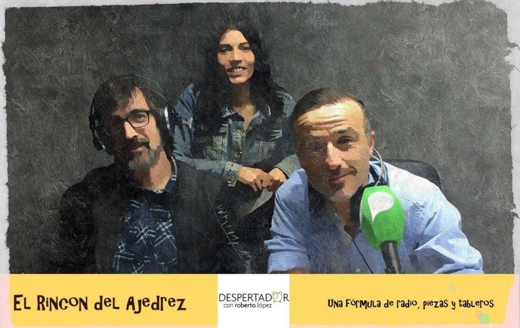 El maestro Azuaga, Nadia Carbajo (productora) y Roberto López