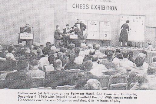 Imagen de prensa que muestra el récord de Koltanowski