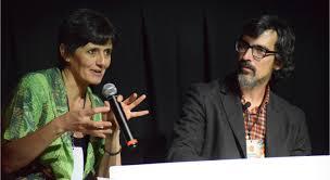 Marina Rizzo con Manuel Azuaga en México como equipo de ponentes de la Fundación Kasparov de Ajedrez
