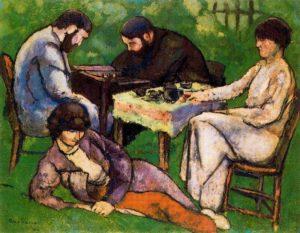 La partida de ajedrez, de Marcel Duchamp. Imagen tomada del dossier de prensa de la muestra.