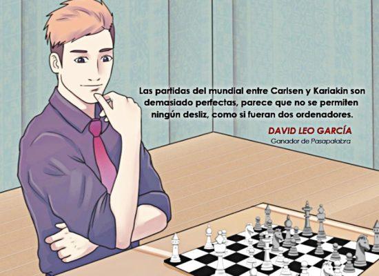 """David Leo, poeta y ganador de Pasapalabra: """"En las pausas, para concentrarme, comía chocolate y jugaba al ajedrez"""""""
