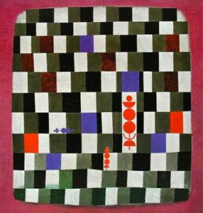 Gran tablero de ajedrez, de Paul Klee. Imagen tomada del dossier de prensa de la muestra.