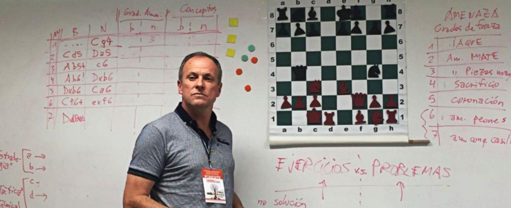 """Erni Vogel, experto en didáctica del ajedrez: """"Hay una diferencia pedagógica clave entre proponer al alumno un problema o simplemente un ejercicio"""""""