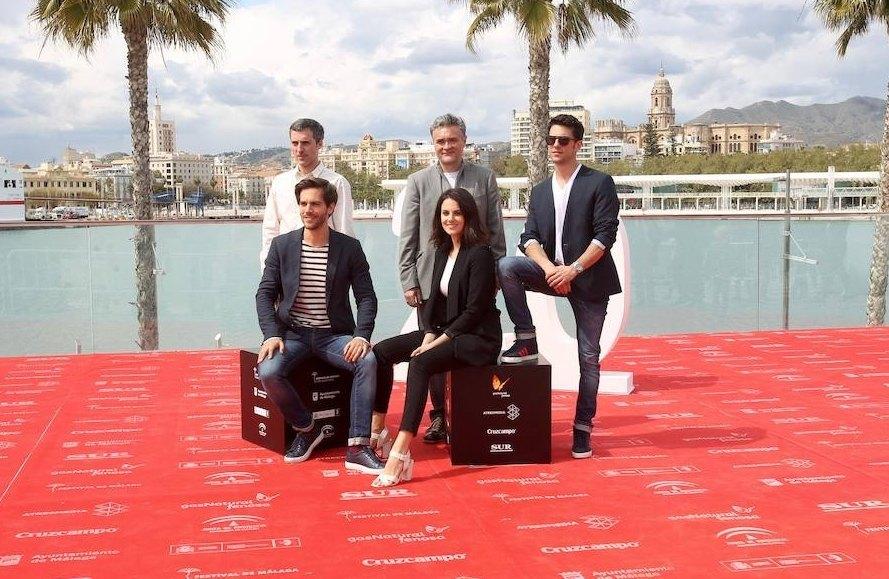 Parte del equipo y reparto en Málaga
