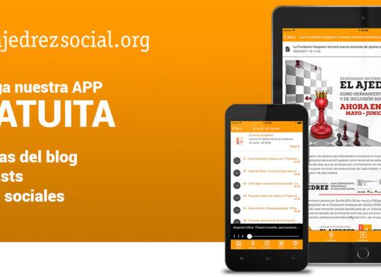 Descarga la APP gratuita de Ajedrez Social