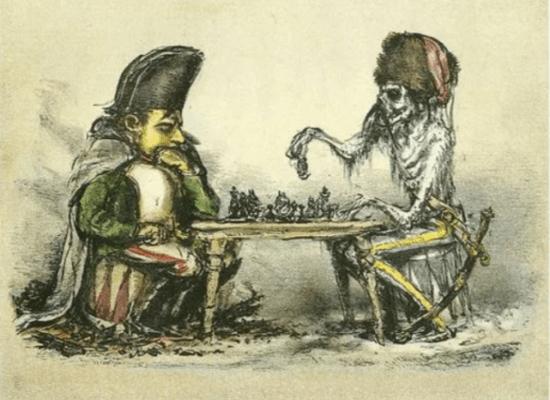 La muerte jugando al ajedrez